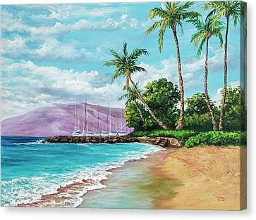 Canvas Print featuring the painting Makila Beach by Darice Machel McGuire