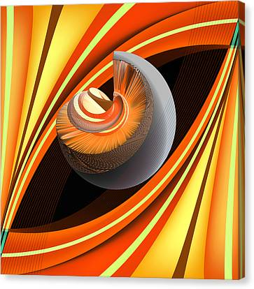 Canvas Print featuring the digital art Making Orange Planets by Angelina Vick