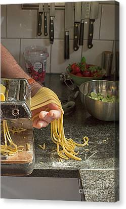 Canvas Print featuring the photograph Making Pasta by Patricia Hofmeester