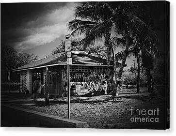 Canvas Print featuring the photograph Mala Wharf Showers Lahaina Maui Hawaii by Sharon Mau