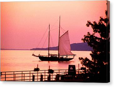 Malabar X Sailboat At Sunset Canvas Print by Roger Soule