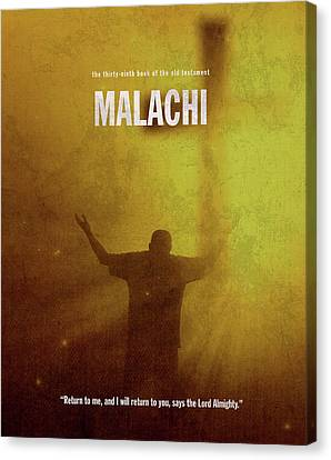 Malachi Books Of The Bible Series Old Testament Minimal Poster Art Number 39 Canvas Print