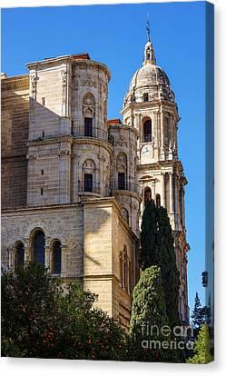 Malaga Canvas Print - Malaga Cathedral by Lutz Baar