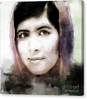 Malala Yousaf Zai 10 Canvas Print by Gull G