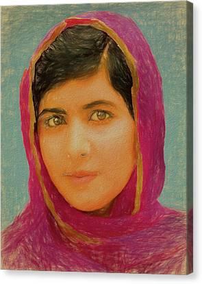 Malala Yousafzai Canvas Print by Dan Sproul