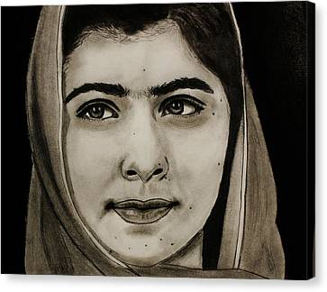 Malala Yousafzai- Teen Hero Canvas Print by Michael Cross