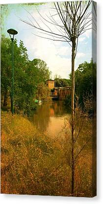Canvas Print featuring the photograph Malamocco Canal No2 by Anne Kotan