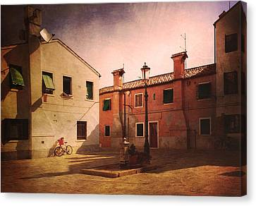 Canvas Print featuring the photograph Malamocco Corner No2 by Anne Kotan