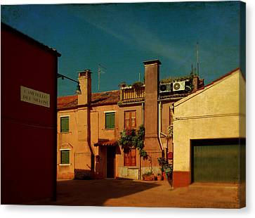 Canvas Print featuring the photograph Malamocco House No2 by Anne Kotan