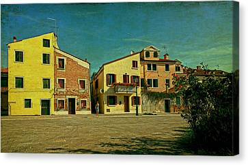 Canvas Print featuring the photograph Malamocco Main Street No1 by Anne Kotan