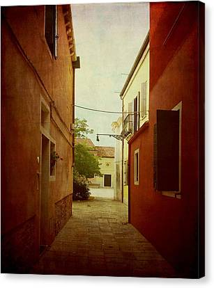 Canvas Print featuring the photograph Malamocco Perspective No2 by Anne Kotan