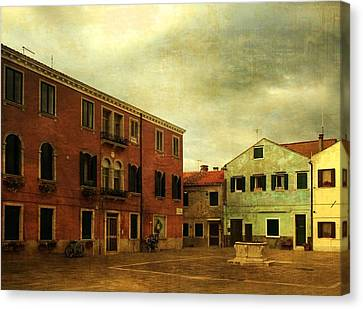 Canvas Print featuring the photograph Malamocco Piazza No1 by Anne Kotan