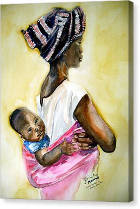 Malawian Mother Canvas Print by Shirley Roma Charlton