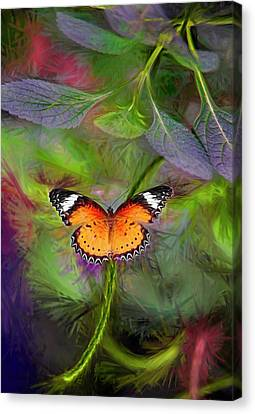 Canvas Print featuring the digital art Malay Lacewing  What A Great Place by James Steele