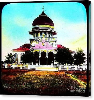 Malay Mosque Singapore Circa 1910 Canvas Print