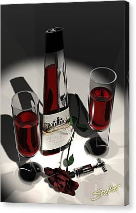 Malbec Wine - Romance Expectations Canvas Print
