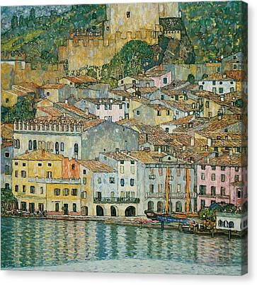 Malcesine  Lake Garda Canvas Print by Gustav Klimt