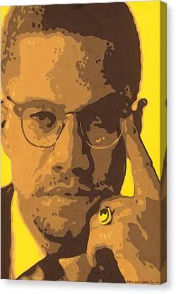 Malcolm El Afroxicano Canvas Print by Roberto Valdes Sanchez