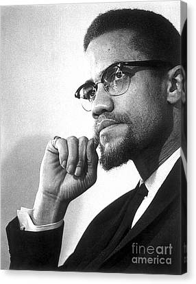 Moustache Canvas Print - Malcolm X (1925-1965) by Granger