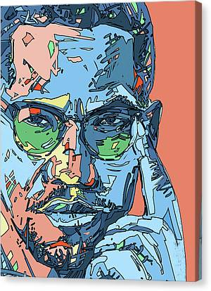 Malcolm X Canvas Print - Malcolm X Color by Bekim Art