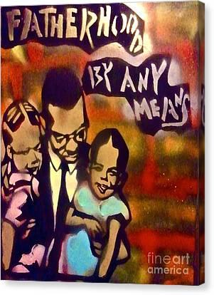 Malcolm X Fatherhood 2 Canvas Print