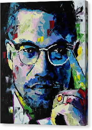 Malcolm X Canvas Print - Malcolm X by Richard Day