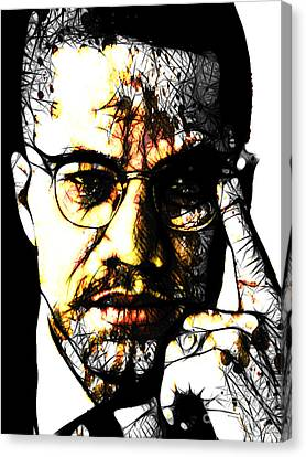 Malcolm X Canvas Print - Malcolm X by The DigArtisT
