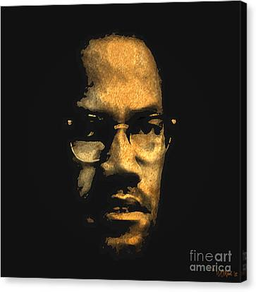 Malcolm X Canvas Print by Walter Oliver Neal