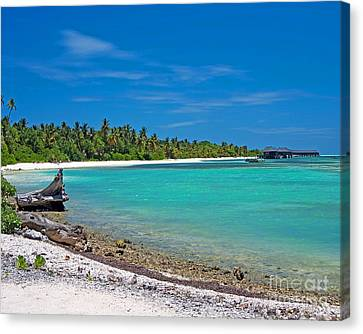 Maldives Paradise Beach Canvas Print