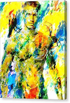 Male Form Canvas Print