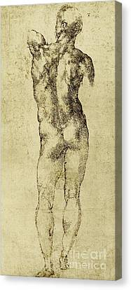 Male Nude Canvas Print by Michelangelo