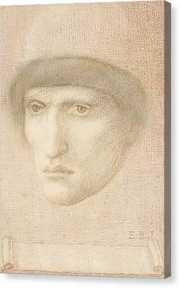 St George Canvas Print - Male Portrait  by Edward Burne-Jones