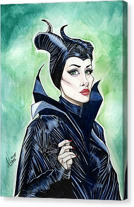 Maleficent Canvas Print by Jimmy Adams