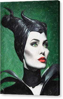 Maleficent Canvas Print by Taylan Apukovska