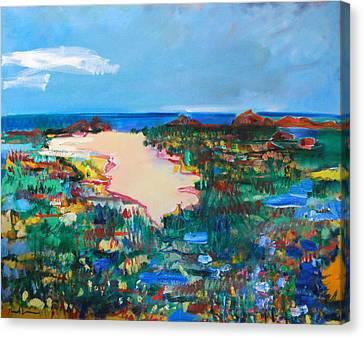 Malibu Marshes Canvas Print by Zolita Sverdlove