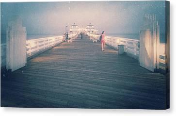 Malibu Pier Blur Canvas Print by DS Wallace