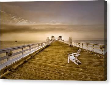 Malibu Pier Sunrise Foggy Morning Canvas Print