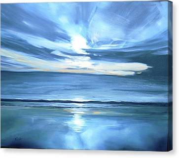 Malibu Sunset L Canvas Print by Valentine Estabrook