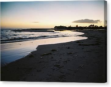 Malibu Sunset Canvas Print by Marina Danic