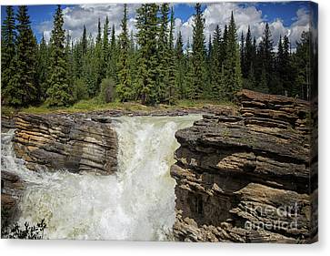 Canvas Print featuring the photograph Maligne Canyon by Patricia Hofmeester