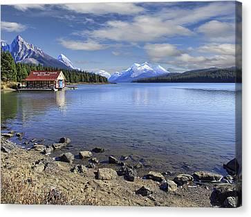 Maligne Lake -- Jasper Alberta Canada Canvas Print by Daniel Hagerman