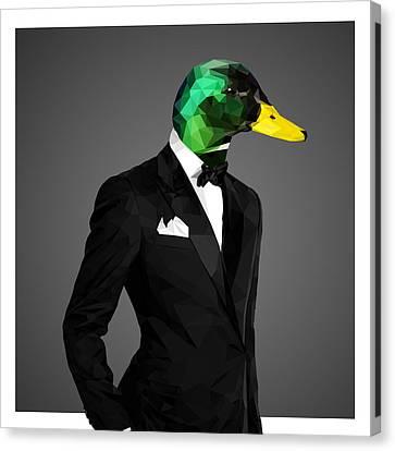 Ducklings Canvas Print - Mallard Duck 2 by Gallini Design