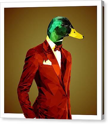 Ducklings Canvas Print - Mallard Duck 4 by Gallini Design