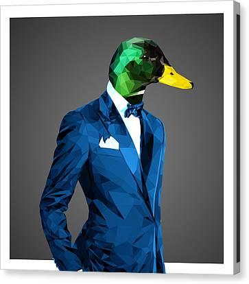 Ducklings Canvas Print - Mallard Duck by Gallini Design