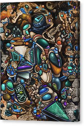 Malleomorphic Minerals In Mounds Of Majestic Muc Canvas Print by Devin Cogger