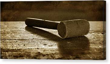 Mallet - Wooden Hammer Canvas Print by Nikolyn McDonald