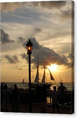 Mallory Square Key West Canvas Print by Susanne Van Hulst