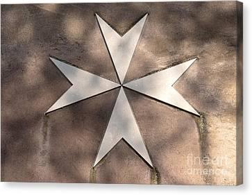 Maltese Cross In Travertine Canvas Print