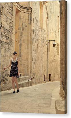 Touching Canvas Print - Maltese Streets by Cambion Art