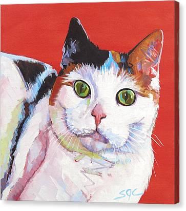 Mama Kitty Canvas Print